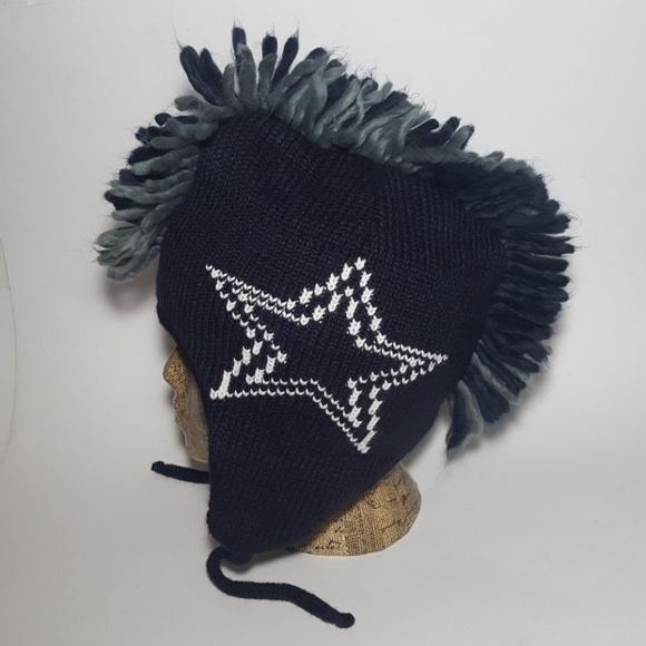 Dallas Cowboys Mohawk Navy Winter Beanie Hat Cap.  M 5b6d506e4ab633c082bd9963. Other Accessories ... 32a361a7a